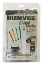 HUMVEE HMV-6-FP12 6-Inch Weatherproof Lightsticks with 8 to 12-Hour Glow Time, 12-Piece Set, Assorted Colors