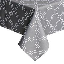 UFRIDAY Printed Tablecloth 60W x 120L, Grey Tablecloth Stain Resistant for Rectangle Tables