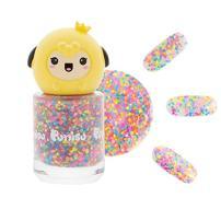 Puttisu Glitter Pang Pang Nail Polish G06 Pink Candy High-Gloss Sticker Type Water-Based…