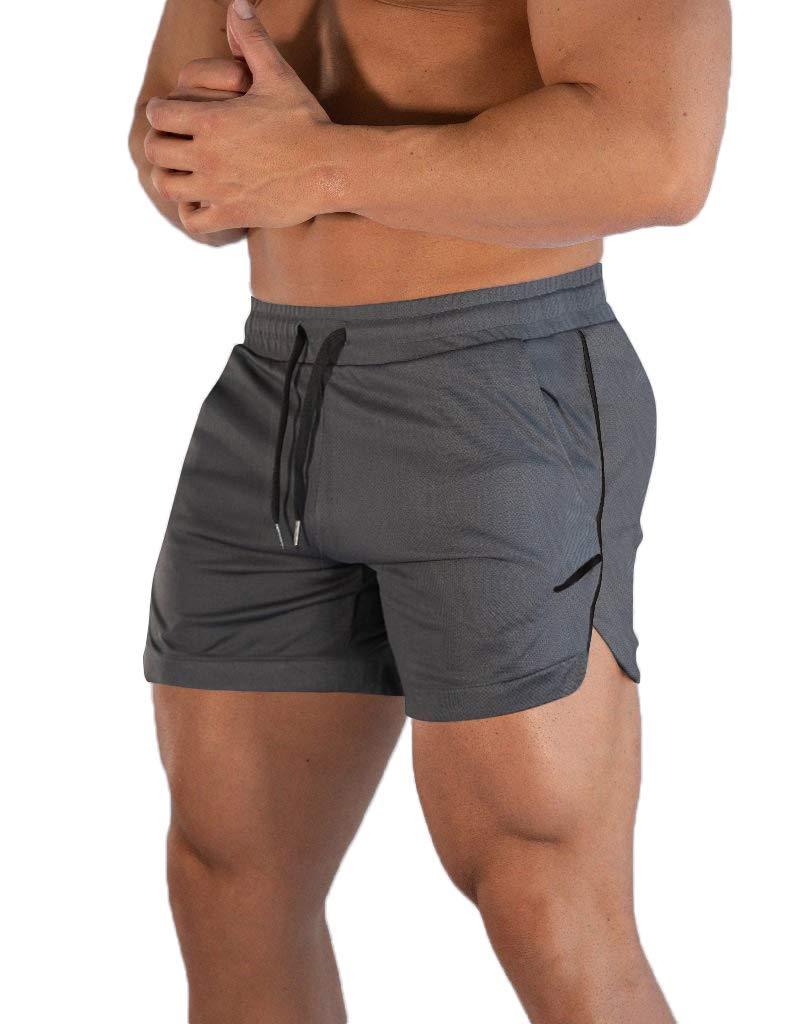 FLYFIREFLY Men's Gym Workout Shorts Running Lightweight Athletic Short Pants Bodybuilding Training