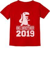 Big Brother Shirt for Toddler Boy Dinosaur T-rex Cute 2019 Kids Tshirt
