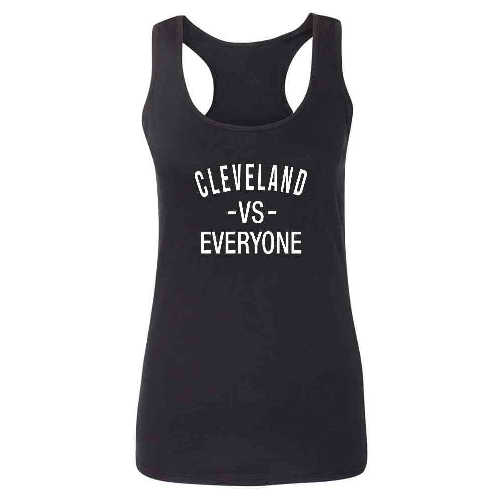 Pop Threads Cleveland vs Everyone Ohio Sports Fan Fashion Tank Top Tee for Women