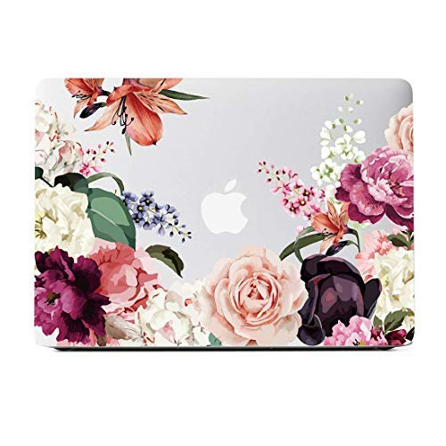 Lapac MacBook Pro 13 inch Case, Compatible with Older Version MacBook Pro Retina 13 inch, Hard Shell Rose Flower Clear Case for Model A1502/A1425 (Retina, 13 inch, Early 2015/2014/2013/Late2012)