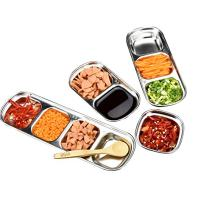 Drizzle Sauce Dish Stainless Steel Soy Tomato Sauce Salt Vinegar Sugar Spices Flavor Condiment Dip Bowls Korean BBQ Home Kitchen Plates