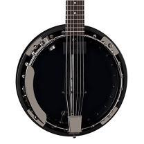 Dean Backwoods 6 Six-String Banjo with Pickup, Black Chrome