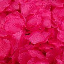 Magik 1000~5000 Pcs Silk Flower Rose Petals Wedding Party Pasty Tabel Decorations, Various Choices (2000, Hot Pink)