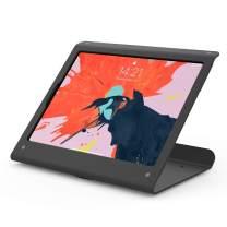 Beelta Tablet Stand for iPad Pro 12.9 3rd gen 2018-360 Swivel Base, Anti Theft, Metal, Matt Black, BSC102BX