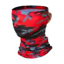 HamLen Elastic Neck Gaiter Scarf Ice Silk Fabric Unisex-Adult Headwear Neck Mask for Outdoor Sun Wind Dust Bandana Balaclava