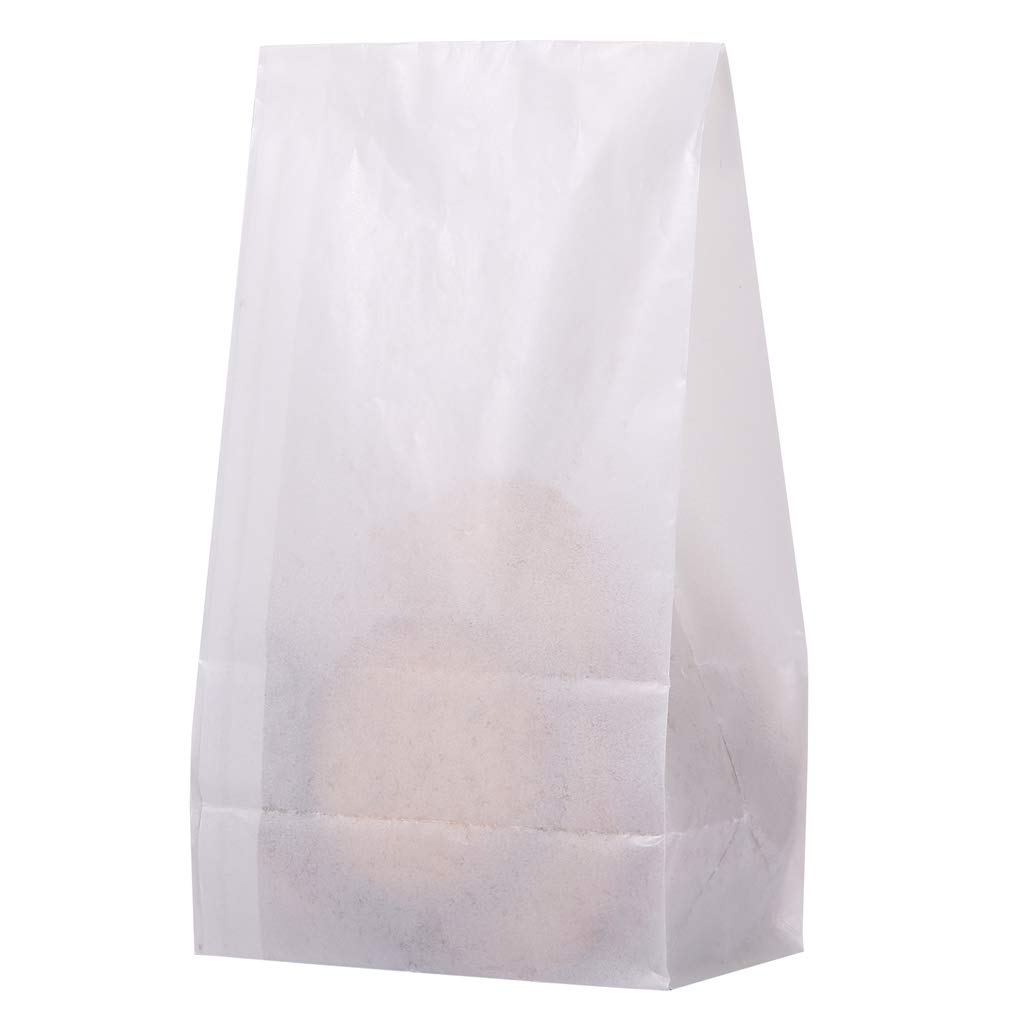 Paper Bags #4 5x2.95x9.45 inch for Grocery Lunch Party Favors, Cookie Candy Snack Bakery Bread Gift DIY Craft Supplies, Pack of 40 by Quotidian