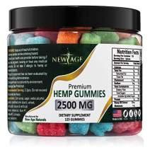New Age Naturals Advanced Hemp Big Gummies 2500mg 125ct Organic Hemp Oil Infused