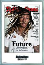 "Trends International Rolling Stone Magazine - Future 16, 22.375"" x 34"", Silver Framed Version"