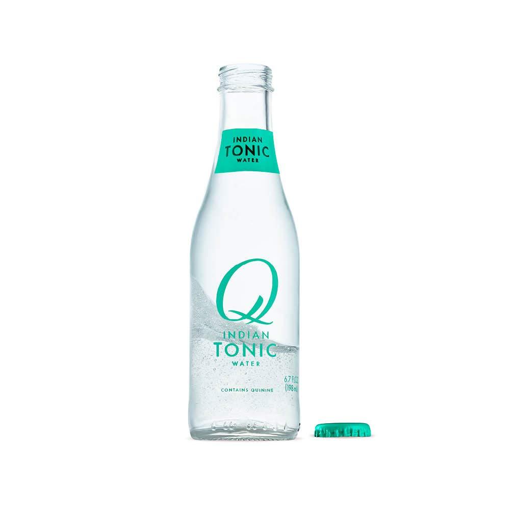Q Mixers Indian Tonic Water, Premium Cocktail Mixer, 6.7 oz (24 Bottles)