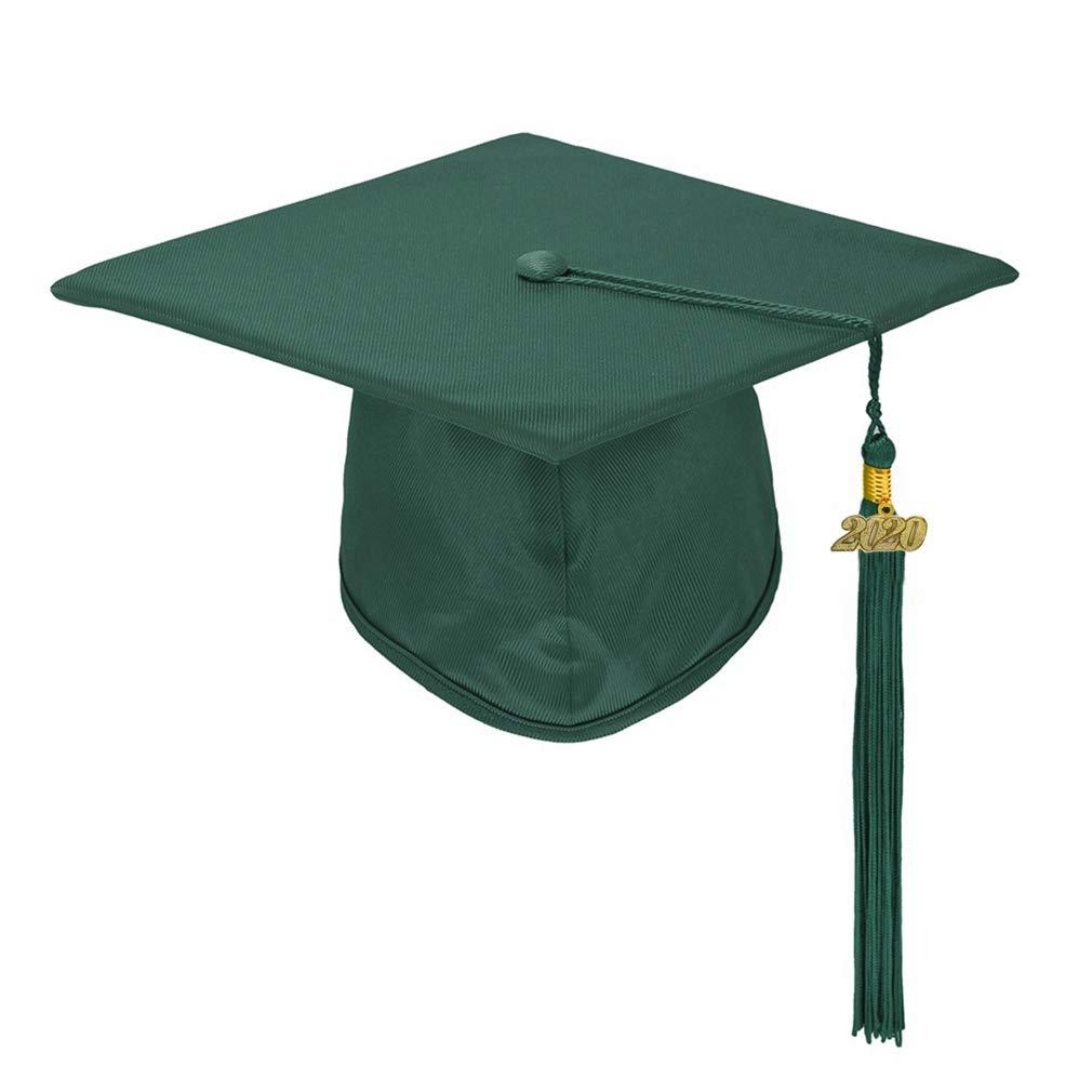 Annhiengrad Unisex Adult Shiny Graduation Cap with Tassel 2020, 13 Colors, Adjustable