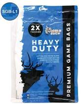 Koola Buck Premium Heavy-Duty Reusable Hunting Game/Meat Bags - Choice of 4-Pack, L & XL Quarter & Full Body Bags - Wild Game: Deer, Elk, Moose, Caribou, Antelope & Hogs
