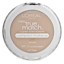 L'Oreal Paris True Match Super-Blendable Compact Makeup, Natural Buff, 0.3 oz.