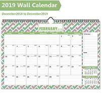 """2020 Wall Calendar, Large Monthly Desk Calendar with Plastic Cover, 16""""x11.5"""", 22 Months Academic Year Desktop Calendars with Reminder Planner Sticker"""