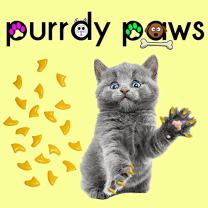 Purrdy Paws Soft Nail Caps for Cat Claws Yellow
