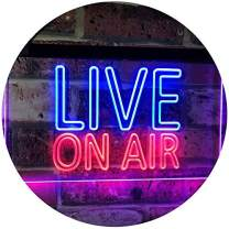 """ADVPRO On Air Live Recording Studio Video Room Dual Color LED Neon Sign Blue & Red 24"""" x 16"""" st6s64-i3064-br"""