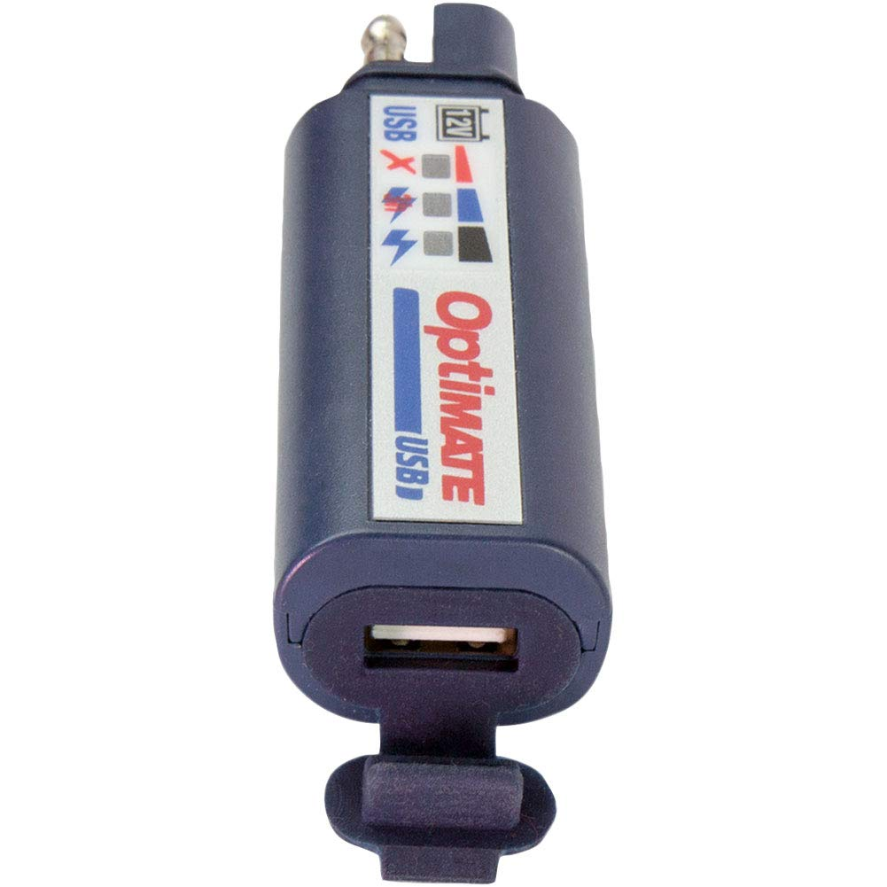 Tecmate OptiMATE USB O-100, Combination 2400mA USB Charger and 3-LED Battery Monitor, With Vehicle Battery Protection
