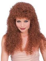 Rubie's Costume Long Curly Auburn Wig
