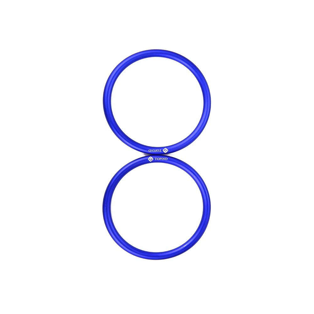 """TOPIND 3"""" Large Size Aluminium Baby Sling Rings for Baby Carriers & Slings of 2 pcs (Blue)"""