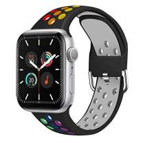aomigell Sport Bands for Watch Band 44mm 42mm 40mm 38mm, Silicone Dual Colour Sport Replacement Straps with Classic Clasp for Watch SE/iWatch Series 6, Series 5, 4, 3, 2, 1 for Women Men