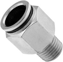 """Vixen Air 1/4"""" NPT Male Push to Connect (PTC) Straight Pneumatic Fitting for 1/2"""" OD Hose VXA7152"""