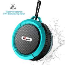 Shower Speaker and Waterproof Bluetooth Speaker with 6H Playtime, 5W Big Sound, Built-in Mic, Portable Speaker with Suction Cup & Sturdy Hook, Suit for Bathroom, Hiking, Biking, Pool
