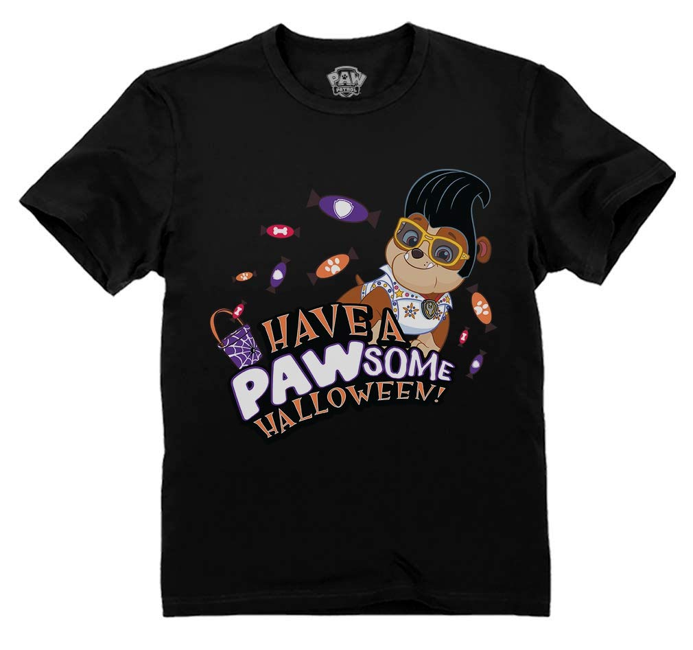 Paw Patrol Rubble Halloween Pawsome Official Nickelodeon Toddler Kids T-Shirt