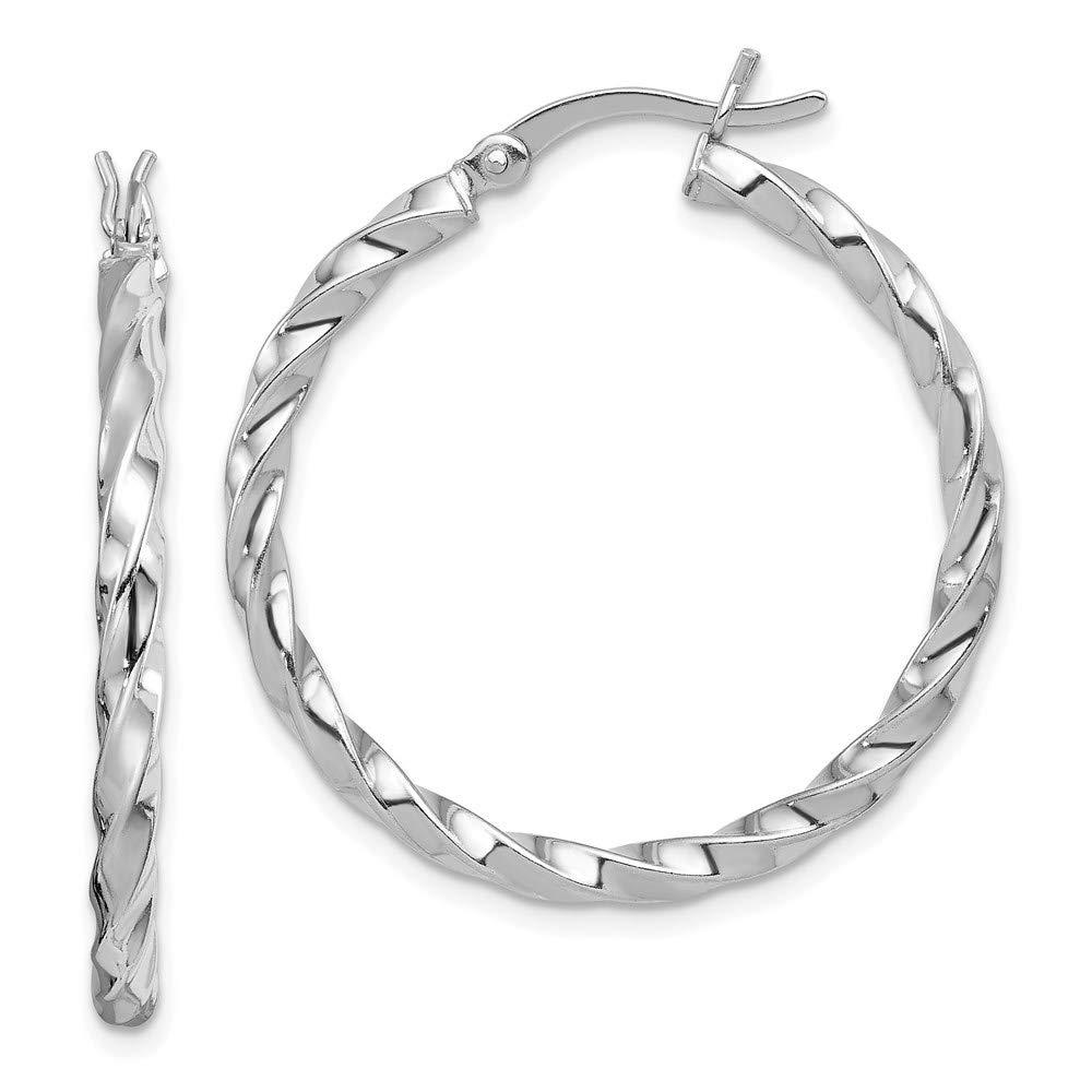 925 Sterling Silver Twisted 30mm Hoop Earrings Ear Hoops Set Fine Jewelry For Women Gifts For Her