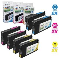 LD Remanufactured Ink Cartridge Replacements for HP 951XL High Yield (2 Cyan, 2 Magenta, 2 Yellow, 6-Pack)