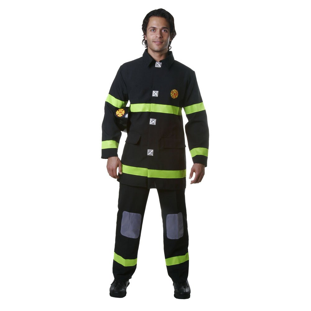 Dress Up America Adult Black Fire Fighter