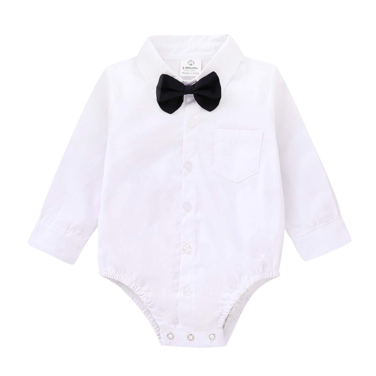 Little Gent Knitted Jumper bodysuit shirt bow tie /& Chino Pant Outfit baby boy