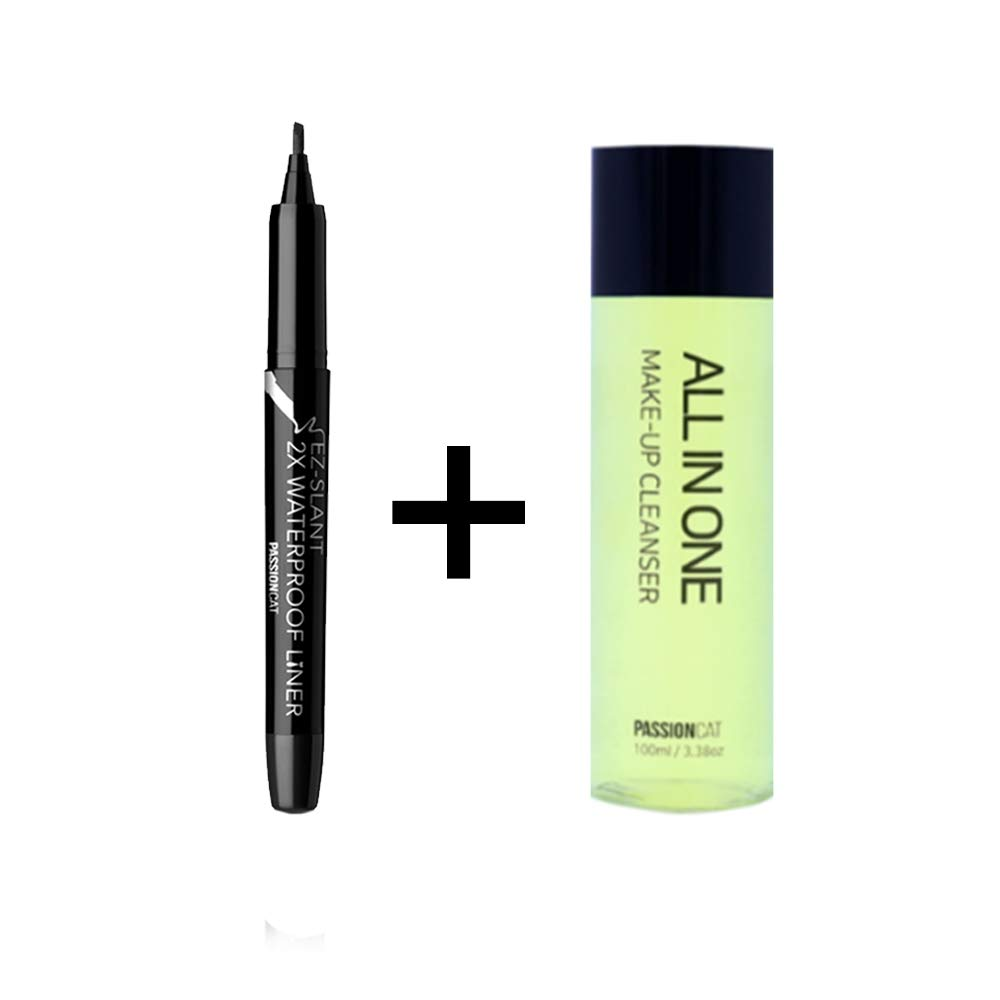 PASSIONCAT 2X Multi-Proof Pen Liner + All in one Cleanser (packaging may vary), 3.38 Fl Oz (Ez-Slant)