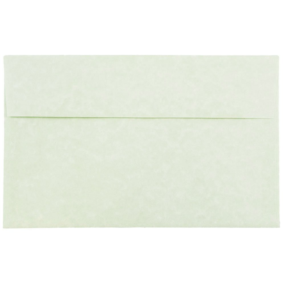 JAM PAPER A10 Parchment Invitation Envelopes - 6 x 9 1/2 - Green Recycled - 50/Pack