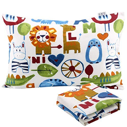 UOMNY Kids Toddler Pillowcases 2 Pack 100% Cotton Pillow Cover Pillowslip Case Fits Pillows sizesd 13 x 18 or 12x 16 for Kids Bedding Pillow Cover Baby Pillow Cases Lion Kids Pillow case