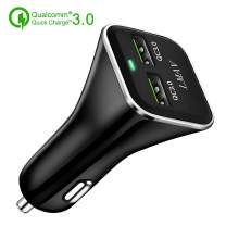 Quick Charge 3.0 Car Charger 48W 6A Dual QC3.0 USB Fast Car Charger Adapter Compatible for iPhone 11 Pro/Xs Max,iPad Pro,Galaxy S10 / S9+ / Note10,Pixel 3XL and More.