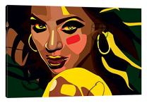 "iCanvasART Beyonce Canvas Print by Dai Chris Art, 18"" x 12"""
