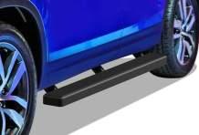 APS iBoard Running Boards 4 inches Matte Black Custom Fit 2016-2020 Honda Pilot Sport Utility 4-Door (Nerf Bars Side Steps Side Bars)
