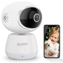 RONBEI Smart Home Pet and Baby Monitor with Camera, 1080p Wireless WiFi Camera with Motion Alert, Night Vision