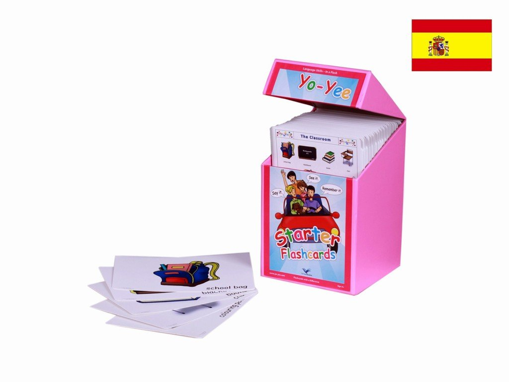 Yo-Yee Flashcards - Starter Flash Cards Kit to Teach Beginner Level Students - Vocabulary Picture Cards for Toddlers, Kids, Children and Adults for Language Development, Speech Therapy and Autism