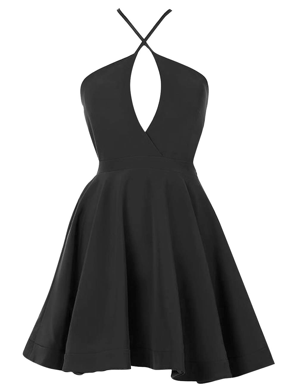 JAEDEN Cocktail Dresses Homecoming Dress Evening Party Dress Adjustable Spaghetti Straps Backless Mini