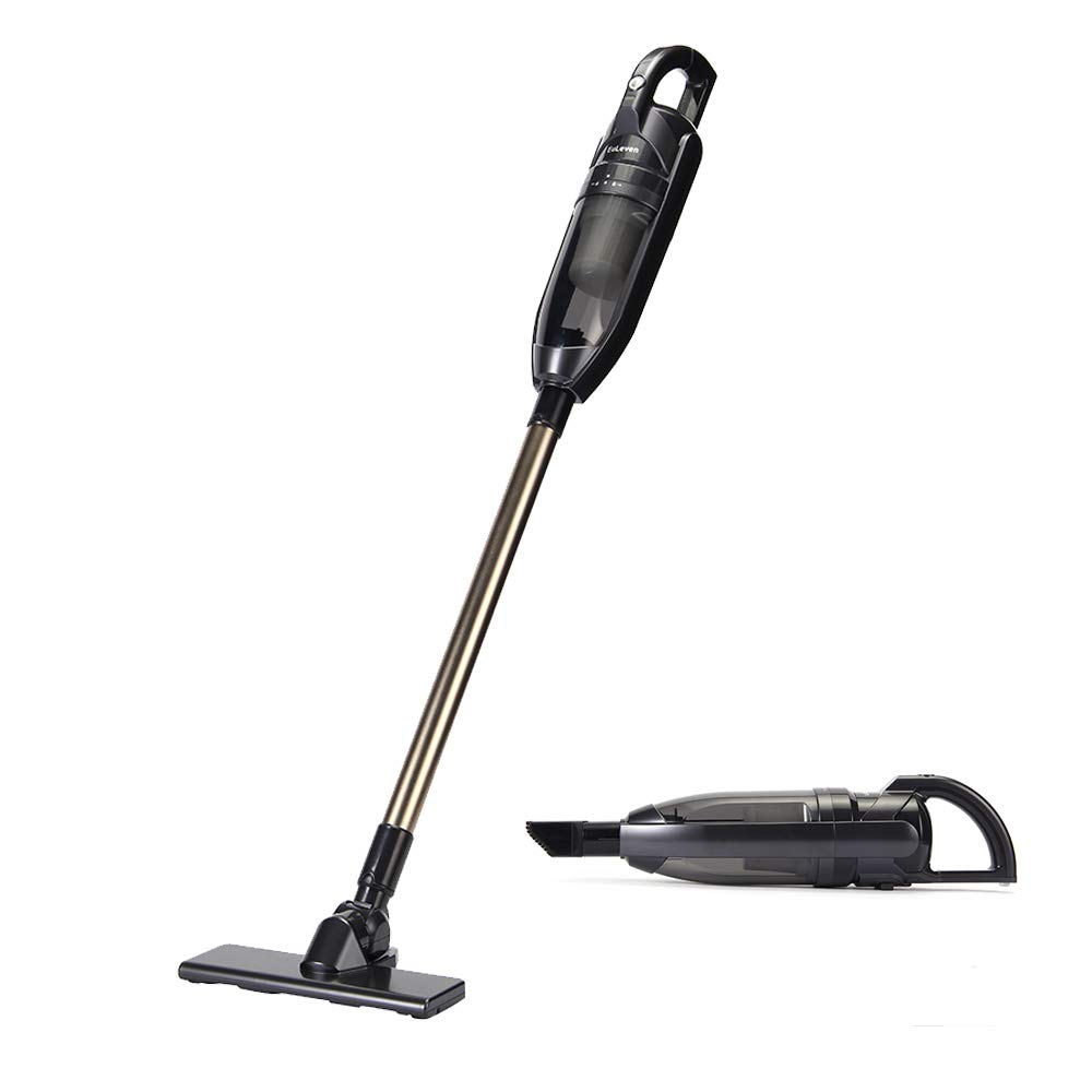EuLeven Cordless Stick Vacuum Cleaner with Rechargeable Battery and Attachments   Lightweight Handheld Wireless Vacuum for Carpets, Tile, Laminate and Hardwood Floors   Strong Suction for Pet Hair