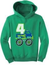 Tstars 4th Birthday Gift for Boys 4 Year Old Boy Truck Birthday Toddler Hoodie