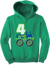 Tstars 4th Birthday Gift for Boys 4 Year Old Boy Truck Birthday Toddler Hoodie