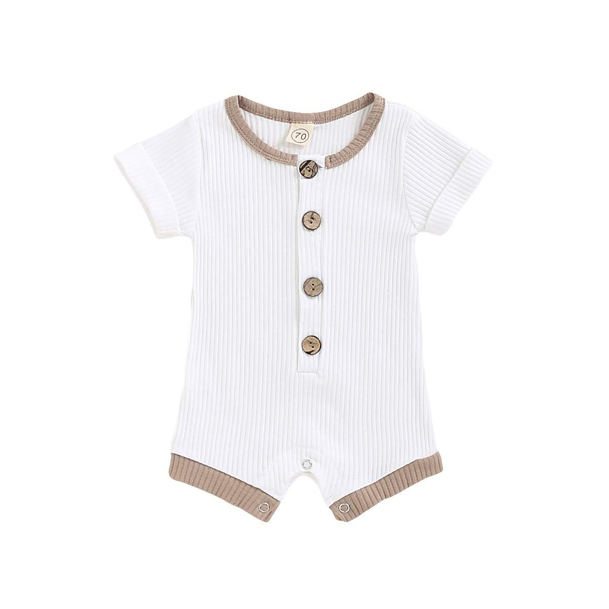 Newborn Baby Clothes Pure Cotton Romper One-Piece Jumpsuits Shorts Set Bodysuit Casual Outfit