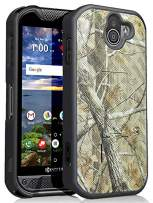 Kyocera Duraforce Pro 2 Case, Nakedcellphone [Outdoor Camouflage] Tree Leaf Real Woods Slim Ribbed Camo Hard Shell Cover [with Kickstand] for Kyocera Duraforce Pro-2 Phone (E6910)