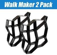 "CJGQ 2Pack 13.4""x13.4""x1.42"" Walk Maker Reusable Concrete Path Maker Molds Stepping Stone Paver Lawn Patio Yard Garden DIY Walkway Pavement Paving Moulds (Irregular)"