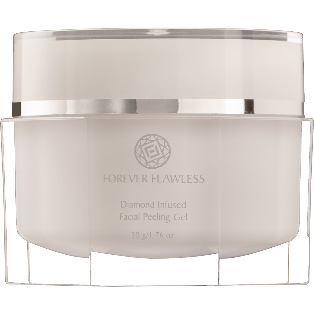 Forever Flawless Diamond Infused Facial Peeling Gel. Advanced Formula for Best Exfoliation, Microdermabrasion, Purification & Detox for a Flawless, Glowing Skin.