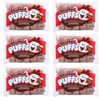 Stuffed Puffs - Chocolate-on-Chocolate 6 Pack, Chocolate Filled Cocoa Marshmallows Made with Real Chocolate, Perfect for S'mores and Snacking, 6 bags (8.6 oz each)